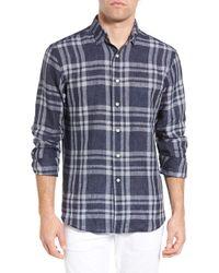 New England Shirt Co. - Regular Fit Plaid Linen Sport Shirt - Lyst