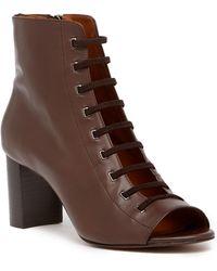 Aquatalia - Stefania Leather Open Toe Bootie - Lyst