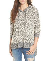 Love By Design - Knit Hooded Sweater - Lyst