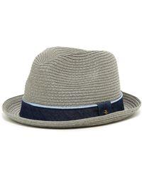 326b9c44898 Lyst - Original Penguin Round Top Straw Porkpie Hat in Brown for Men