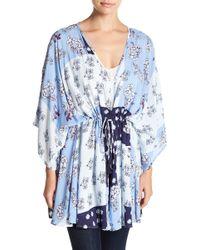 Caslon - Poppy Patchwork Kimono - Lyst