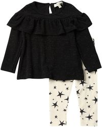 Jessica Simpson - Knit Long Sleeve Top & Star Print Leggings 2-piece Set (baby Girls) - Lyst