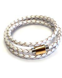 Liza Schwartz - Original Triple Wrap White Premium Leather Bracelet - Lyst