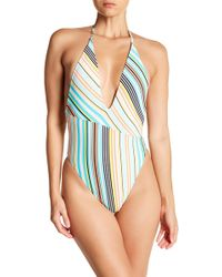 The Bikini Lab - Stripe One-piece Swimsuit - Lyst
