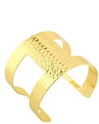 Charlene K - Hammered Open Cuff Bracelet - Lyst