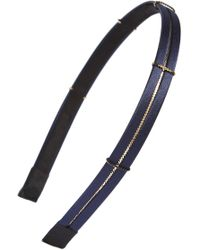 Cara - Skinny Metal Chain Headband - Lyst