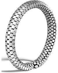 John Hardy - Dot Sterling Silver Slim Flex Cuff - Lyst