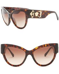 19d036b2e357 Versace - Rock Icons Medusa 55mm Cat Eye Sunglasses - Lyst