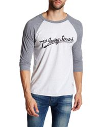 7th Inning Stretch - Logo Graphic Three Quarter Baseball Tee - Lyst
