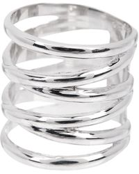 Liberty - Sterling Silver Long Coil Ring - Lyst