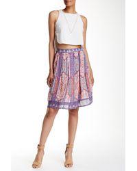 Lucky Brand - Tapestry Print Skirt - Lyst