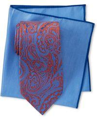 Ted Baker - Bloomingdales Paisley Silk Tie & Pocket Square Set - Lyst