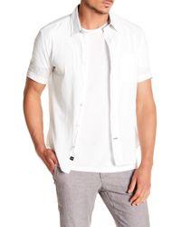 Benson - Voile Short Sleeve Regular Fit Shirt - Lyst