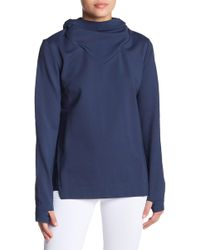 Lime & Vine - Alura Cowl Neck Hoodie - Lyst