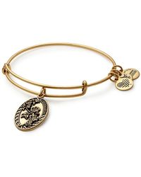 ALEX AND ANI - Granddaughter Flower Charm Expandable Wire Bracelet - Lyst