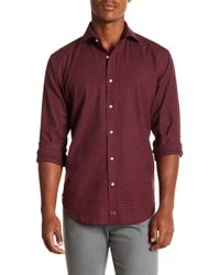 Thomas Dean - Gingham Long Sleeve Sport Fit Shirt - Lyst