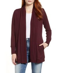 Gibson - Cozy Ribbed Cardigan (regular & Petite) - Lyst