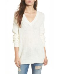 Love By Design - Lace-up Back Pullover - Lyst