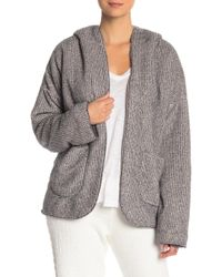 Pj Salvage - Cozy Two Tone Hooded Jacket - Lyst