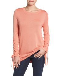 Halogen - Ruched Sleeve Tunic Jumper (petite) - Lyst