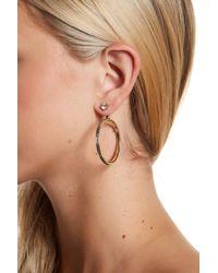 Jessica Simpson - Channel Set Crystal Hoop Earrings - Lyst