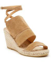 54f777f8c8f Lyst - Bettye Muller Dijon Leather Wedge Espadrille Mule Sandals in ...