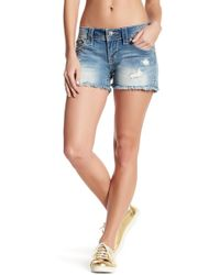 Miss Me Distressed Embellished Shorts