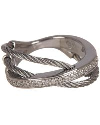 Alor - Diamond Accent Twisted Texture Triple Layer Ring - Size 7 - 0.11 Ctw - Lyst