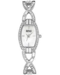 Badgley Mischka - Women's Swarovski Crystal Accented Chain Link Bracelet Watch, 20mm - Lyst
