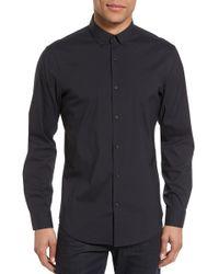 Calibrate - Trim Fit Stretch Woven Sport Shirt - Lyst