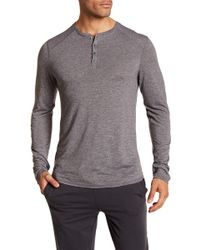 Bread & Boxers - Long Sleeve Henley Shirt - Lyst