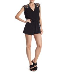 Dex - Embroidered Romper - Lyst
