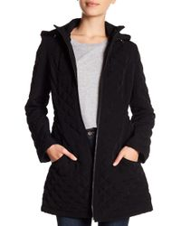 Laundry by Shelli Segal - Quilted Hooded Jacket - Lyst