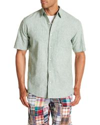 Vintage 1946 - Locker Loop Short Sleeve Linen Regular Fit Shirt - Lyst