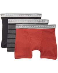 Lucky Brand - Cotton Boxer Briefs - Pack Of 3 - Lyst