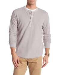 Grayers - Campesina Double Cloth Thermal Henley - Lyst