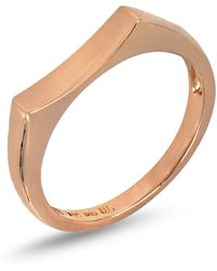 Bony Levy - 14k Rose Gold Concave Bar Ring - Lyst