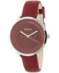 Furla - Women's Metropolis Leather Watch, 38mm - Lyst