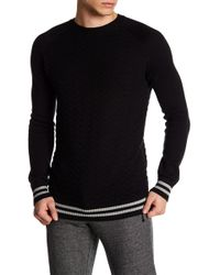 Parke & Ronen - Textured Knit Stripe Cuff And Hem Sweater - Lyst
