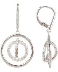 Judith Jack - Sterling Silver Swarovski Marcasite Embellished Circle Drop Earrings - Lyst