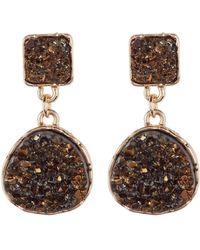 Panacea - Imitation Drusy Double Drop Earrings - Lyst