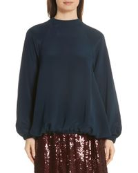 Tibi - Silk Sweatshirt - Lyst