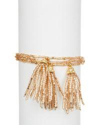 Panacea - Beaded Tassel Bracelet - Lyst