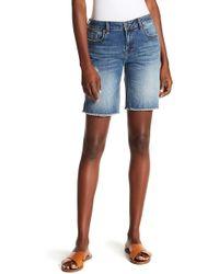 Vigoss - Distressed Denim Bermuda Shorts - Lyst