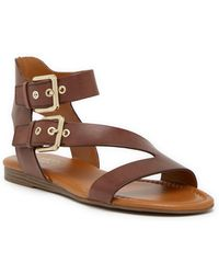 Franco Sarto - Georgina Leather Buckle Strap Sandal - Lyst