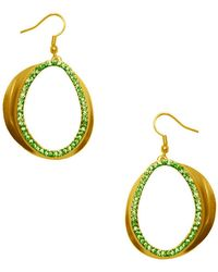 Karine Sultan - Chloe Pave Statement Drop Earrings - Lyst