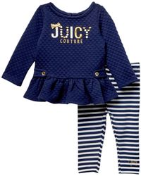 Juicy Couture - Quilted Tunic & Striped Leggings Set (baby Girls) - Lyst