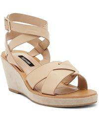 Kensie - Venezia Leather Wedge Sandal - Lyst