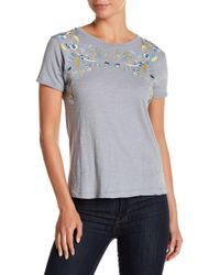 Lucky Brand - Embroidered Leaves Tee - Lyst