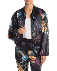 On The Road - Sherry Floral Satin Bomber Jacket - Lyst